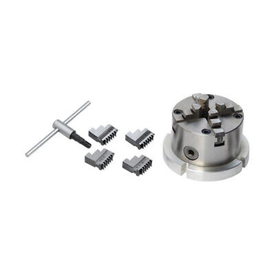 AU170.40 • Buy New 4Jaw Chuck 100mm Self Centring With Back Plate Suitable For 6  Rotary Table