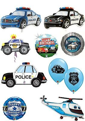 £4.50 • Buy Police Officer Car Cops Balloons Party Ware Decoration Novelty Gift Helium