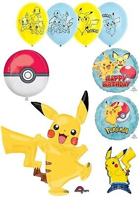 Pokemon Pikachu Balloons Party Ware Decoration Novelty Gift Helium Air • 3.50£
