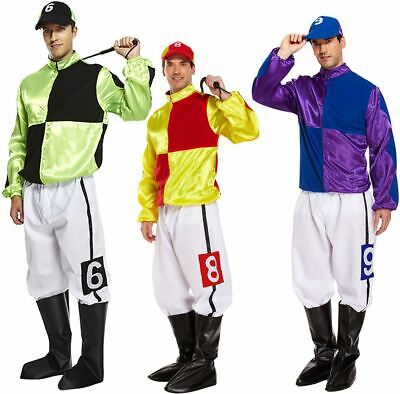 Adult Hard Rider Horse Jockey Men Fancy Dress Stag Party Costume Complete Outfit • 22.49£