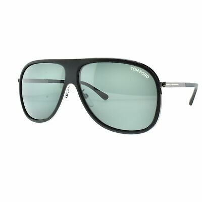 8eea1aac6e53f Tom Ford Chris TF0462-F 02N Black Aviator Full Rim Men 100% UV Sunglasses