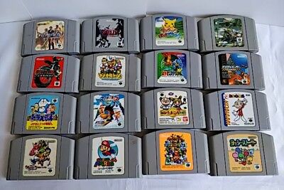 $ CDN121.46 • Buy Whole Sale Lot Of 16 Nintendo 64 N64 Game Cartridge Set/Not Tested-a731-