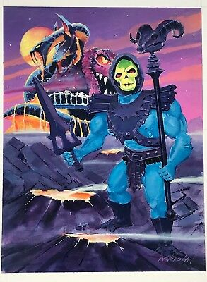 $575 • Buy Original 9 X12  Gouache Rendering Of Vintage MOTU Skeletor/Snake Mountain