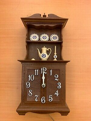 Vintage 1960s Spartus Plastic China Cabinet Hutch Kitchen Wall Electric Clock • 11.04£