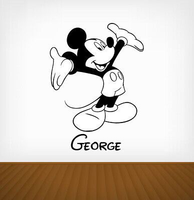 Personalised Mickey Mouse Disney Wall Stickers Vinyl Art Decals DIY • 4.29£