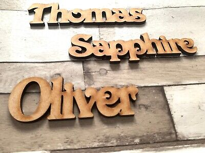 £4.99 • Buy Wooden Name Personalised Names Wedding Words Letters Place Names Scrapbook Craft