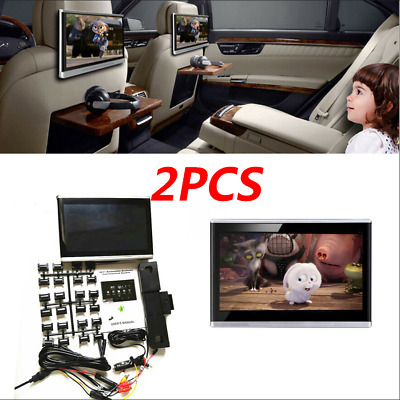 $417.89 • Buy 2X Android 6.0 10.1  Car Quad-Core Wifi BT 3G/4G HDMI Headrest Rear Seat Monitor