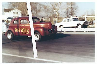 1960s NHRA Drag Racing- Wild Willy --1939 Willys Sedan-D/Gasser-Cecil County • 4$