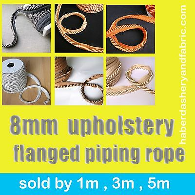 Upholstery Flanged Piping Cord Rope 8m Trimmings Trim Cushion Piping Cord Trims • 2.30£