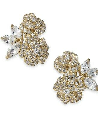 $ CDN62.93 • Buy $68 Kate Spade Gold Tone Crystal Flower Earrings THAT SPECIAL SPARKLE  #601