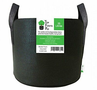 £5.73 • Buy Fabric Pots Round & Square Black Recycled Materials Hydroponics Plant Pots Grow