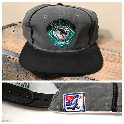 2c000b7bdeb Vintage Florida Miami Marlins MLB The Game Snapback Hat Rare Two Tone  Deadstock • 24.95