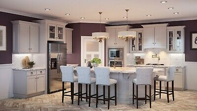 $4599.99 • Buy Fully Assembled - All Wood 10X10 Shaker Dove Kitchen Cabinets Taupe Light Gray