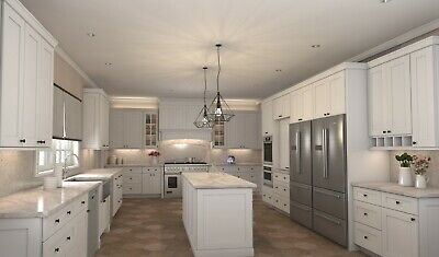 $5299.99 • Buy Fully Assembled 10X10 Modern Shaker White Kitchen Cabinets Lifetime Warranty