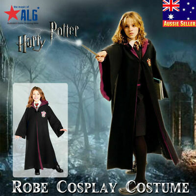 AU34.99 • Buy Harry Potter Gryffindor Kids Costume Robe Tie Glasses Wand Cloak Fancy Dress