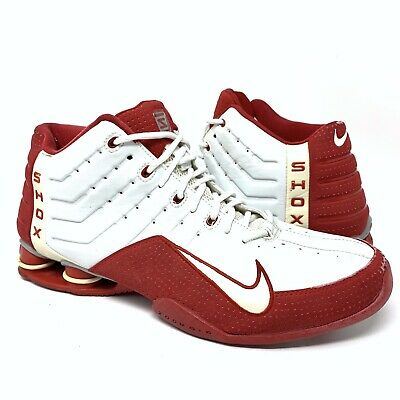 27956ee07030 NIKE SHOX ELEVATE 2004 Men s Basketball Shoes 309181 161 00 White Red Sz 13  • 74.95