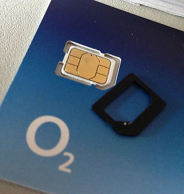 £0.99 • Buy Latest O2 Pay As You Go Nano IPhone 5 5s & 6 Sim Card Unlimited Calls And Texts*