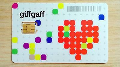 £0.99 • Buy Giffgaff  Pay As You Go Nano IPhone 5 5s 5c & 6 Sim Card 4G Data FREE £5 Credit