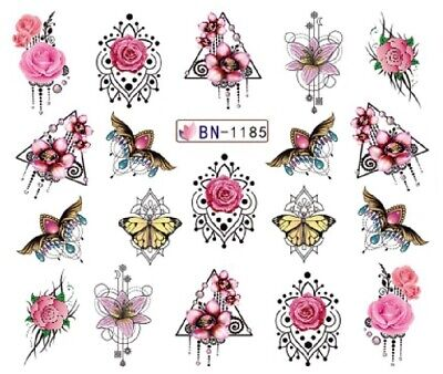 £1.75 • Buy Nail Art Stickers Water Decals Transfers Red  Roses Chandelier (BN1185)