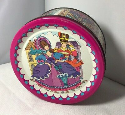 £14.99 • Buy Vintage Small Rowntree Mackintosh Quality Street Soldier & Lady Round Tin 1970s