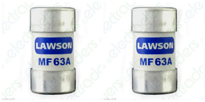 £11.35 • Buy 2 X Lawson MF63A Cut Out Fuses - 63 Amp BS88