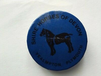 Shire Horses Of Devon  Yealmpton Plymouth Picture Badge  • 2£