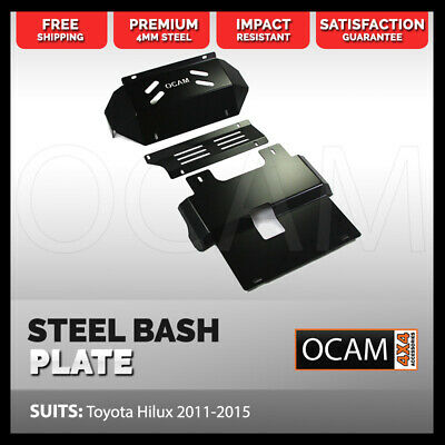 AU199 • Buy OCAM 3PC Steel Bash Plates For Toyota Hilux N70 2011-15 4mm, Black