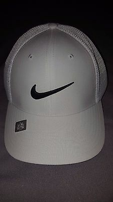 fbe36e10448 Nike Golf Legacy 91 Tour Mesh Adult Mens Stretch L xl Hat White 810545 015