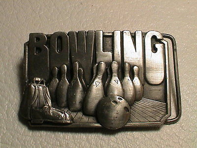 Bowling Showing Pins Bag Ball Shoes Mens Preowned Metal Siskiyou Belt Buckle  • 15.73£
