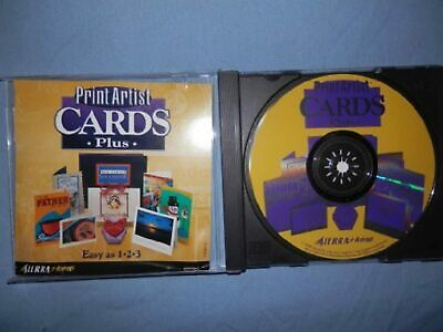 Print Artist Cards Plus Software Crafts XPB462 Very Good • 5.95£