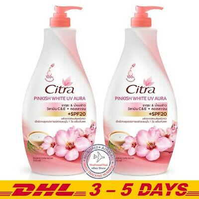 $ CDN37.61 • Buy Pack 2: Citra Pinkish White UV Aura Body Lotion SPF20 With Sakura Essence 590ml