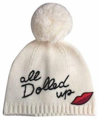 d22eb315d3100 NWT Kate Spade New York ALL DOLLED UP Pom Pom Beanie Hat Cream • 34.95
