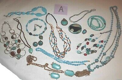 $ CDN51.71 • Buy Huge Lot A Of Turquoise Jewelry Necklaces, Earrings & More *lqqk*