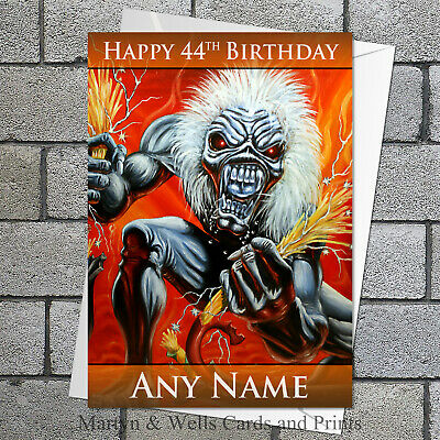 £3.85 • Buy Iron Maiden Birthday Card. 5x7 Inches. Personalised, Plus Envelope.