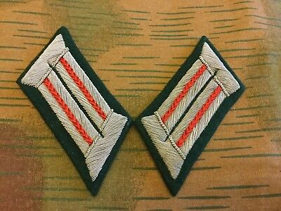 WW2 German Army Officer Uniform Collar Tabs Artillery Red Repro New • 22.95£