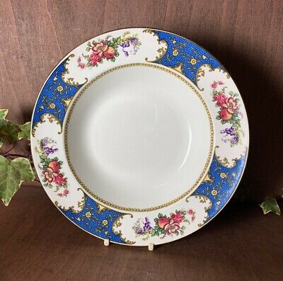 Vintage Sampson Bridgwood And Sons Floral Large 10  Rimmed Soup Bowl 1930,s • 8.99£