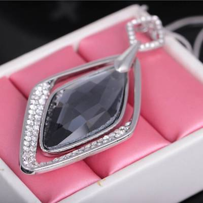 AU7.46 • Buy Long Necklace And Pendant For Women Geometric Jewelry Crystal E