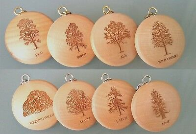 £4.50 • Buy Wooden Keyring Engraved With Your Favourite Tree