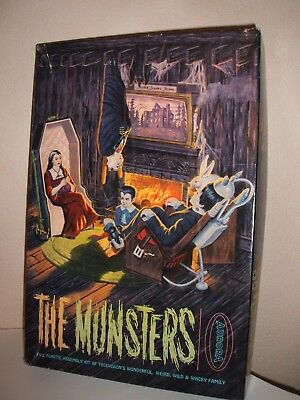 Aurora The Munsters Model Kit  Minor Assembly In  Mid Grade U.s Box Very Rare • 599.99£