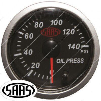 AU59.95 • Buy Saas 52mm Engine Oil Pressure Gauge + Sender Unit Electric 0-140 Psi