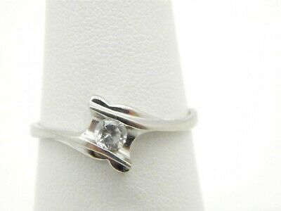 $16 • Buy Pretty Sterling Silver 925 Round CZ Solitaire Ring Size 6 1/4