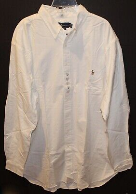 3c6b86449 Polo Ralph Lauren Big And Tall Mens White Oxford Button-Front Shirt NWT •  50.14