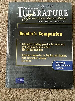 $10 • Buy Literature The British Tradition Prentice Hall Readers Companion ISBN 0130623830