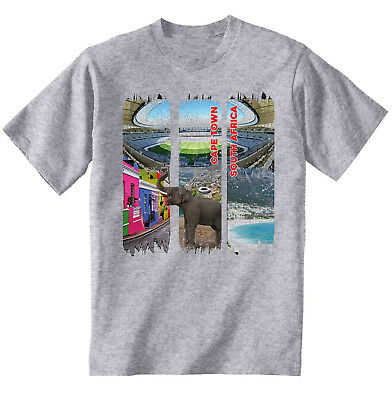Cape Town South Africa - New Cotton Grey Tshirt • 16.99£