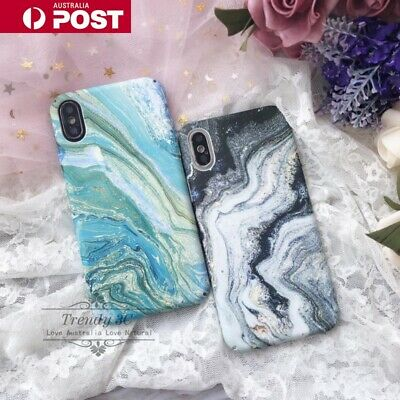 AU8.99 • Buy New Marble Fashion Pattern Creative Hard Case Cover For IPhone X XS MAX XR