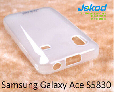 £4.99 • Buy Jekod White TPU Gel Silicone Case Cover+screen Protector For Samsung Galaxy Ace