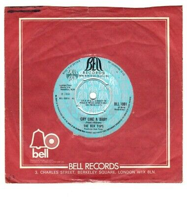 £3.75 • Buy The Box Tops.cry Like A Baby / The Door You Closed To Me.uk Orig 7  & Co/sl.vg+