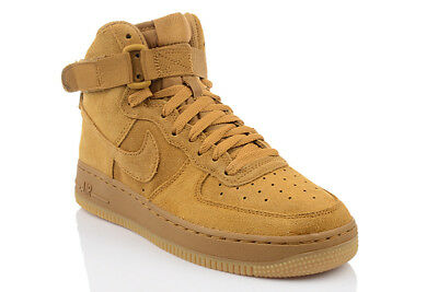 hot sales f54b1 df13d Nike Air Force 1 High Lv8 Marrón Zapatos Mujer Niños Zapatillas Top 807617-701  •