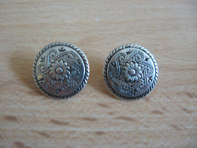 Metal Buttons X5, Silver Tone/pewter Colour Buttons, Sewing, Crafts, Dressmaking • 4.50£