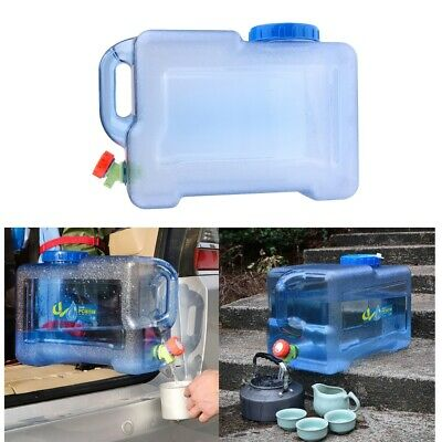 10L Plastic Caravan Water Jerry Can with Tap Water Container Carrier Food Grade